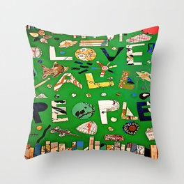 Love All People Throw Pillow