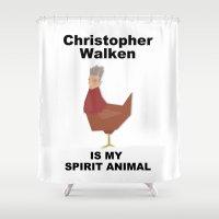 christopher walken Shower Curtains featuring Christopher Walken is my Spirit Animal by Mr. Child