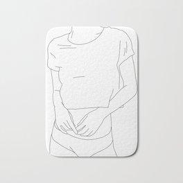 Fashion illustration line drawing - Carin Bath Mat