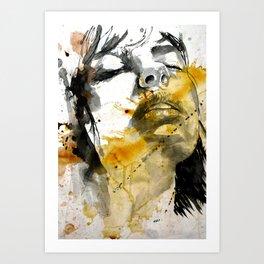 splash portraits Art Print