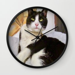 Orazio latin lover cat Wall Clock