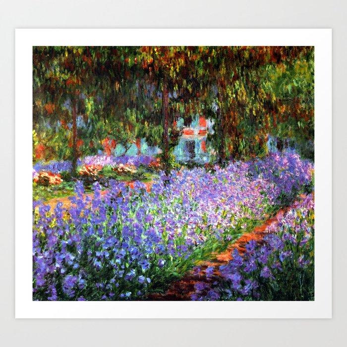 Claude Monet The Artist's Garden at Giverny Kunstdrucke