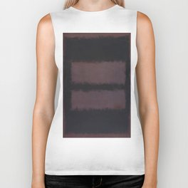 Black on Maroon 1958 by Mark Rothko Biker Tank