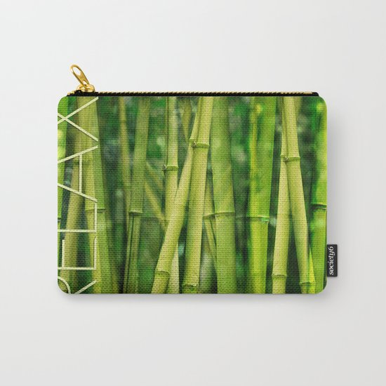 Green Bamboo relax zen Carry-All Pouch