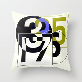 SRC Preparations Race Numbers One Throw Pillow