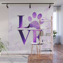 Love is a Four Letter Word - Purple Marble Wall Mural