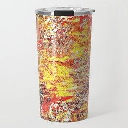 Golden Autumn Abstract Travel Mug