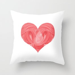 Genetics Family Blood Relation Science Gift Heart DNA Throw Pillow