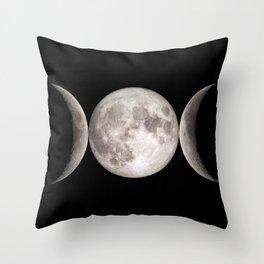 Triple Moon Throw Pillow