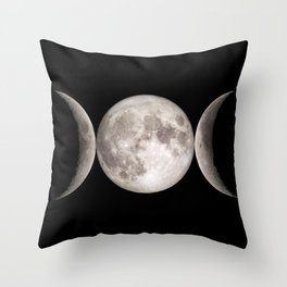 Triple Moon Throw Pillow