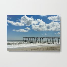 Silhouetted pier Metal Print