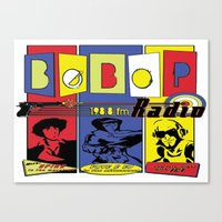 cowboy bebop Canvas Prints featuring Bebop radio  by whatdavedoes