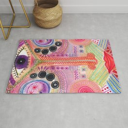 the all seing tranquility mask Rug