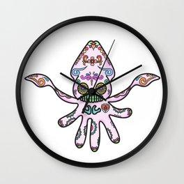 Papel : Dia de los Muertos Squid Wall Clock