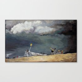 Stormy Sky Over Beach Canvas Print
