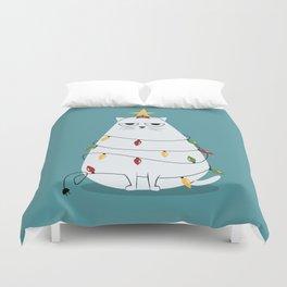 Grumpy Christmas Cat Duvet Cover