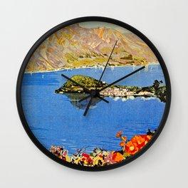 Italy Bellagio Lake Como Wall Clock