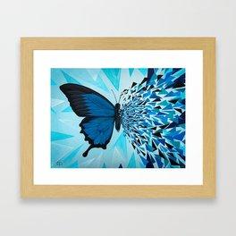 Butterfly effect blue Framed Art Print