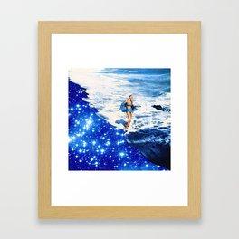 la playa  Framed Art Print
