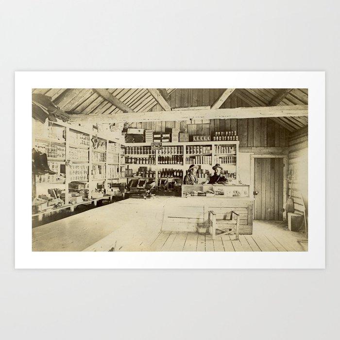 Vintage General Store Scene Art Print