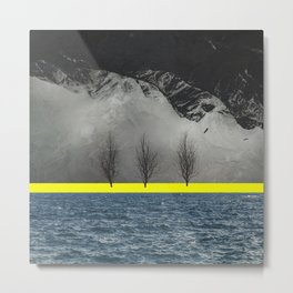 Between Mountain and Sea Metal Print