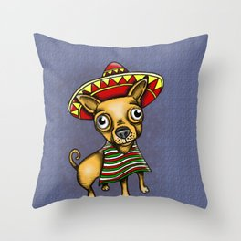 Mexican Chihuahua in Brown Throw Pillow