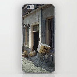 Bicycle on a street by the Zuider Zee in the Netherlands iPhone Skin