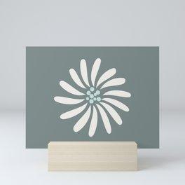 Flower in sage  Mini Art Print