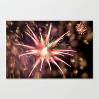 philippines Canvas Prints featuring Fireworks - Philippines by David Johnson