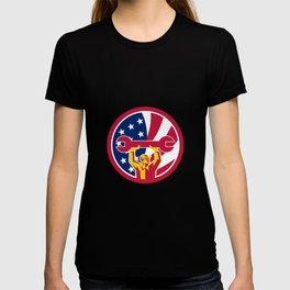 American Mechanic USA Jack Flag Icon T-shirt