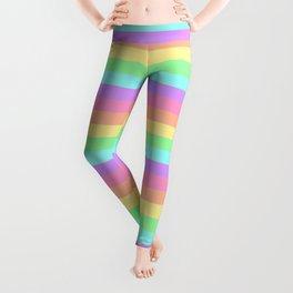 Pastel Rainbow Stripes Leggings