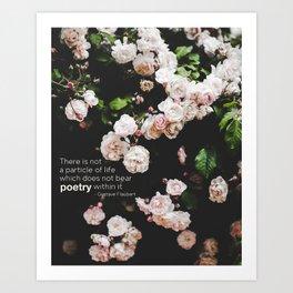 Roses, the Poetry of Life and Flaubert Art Print