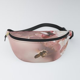 Bees and Plum Blossoms in Sangenjaya Fanny Pack