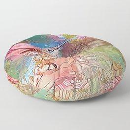 Fairy Hummingbird Floor Pillow