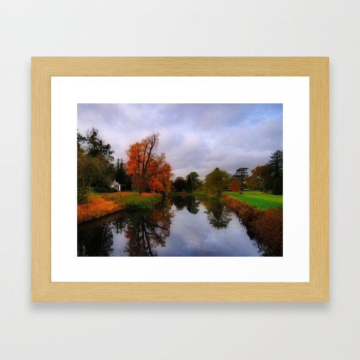 Autumn Reflections at Wrest Park Framed Art Print