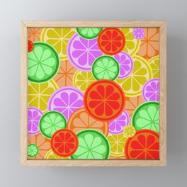 Citrus Explosion - A Pattern of Many Fruits from the Citrus Family Framed Mini Art Print