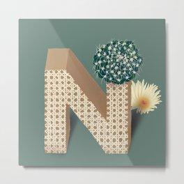 Vase N Notocactus Metal Print