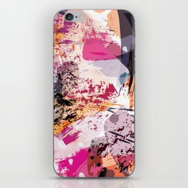 7: a vibrant abstract in jewel tones iPhone Skin