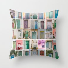 Door Collection Throw Pillow