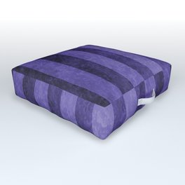 Lavender Stripes Outdoor Floor Cushion