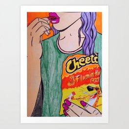 Hot Cheetos are life Art Print