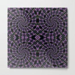 Purple Twirl Pattern Metal Print