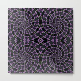 Purple Twirl Pattern Metal Print