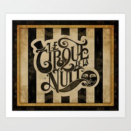 Le Cirque de la Nuit Art Print