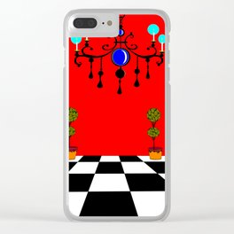 An Elegant Hall of Mirrors with Chandler and Topiary Clear iPhone Case