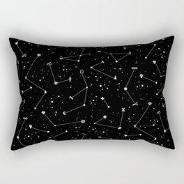 Constellations (Black) Rectangular Pillow