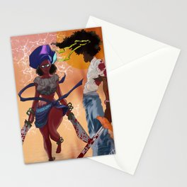 Afro  Ninjas Stationery Cards