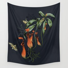Carnivorous Pitcher Plant Wall Tapestry