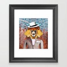 mister Lion Framed Art Print