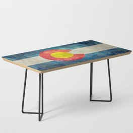 Colorado State flag, Vintage retro style Coffee Table